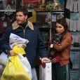 """Tom Hardy et Noomi Rapace en tournage pour le film Animal Rescue à Brooklyn, New York, le 18 mars 2013."""