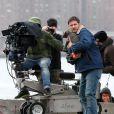"""""""Tom Hardy et son chiot sur le tournage du film Animal Rescue à Brooklyn, New York, le 18 mars 2013."""""""