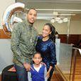 Lala Vasquez Anthony et son mari Carmelo Anthony lors du 6e anniversaire de son fils Kiyan le 8 mars 2013 à New York, dévoilant sa nouvelle silhouette après son régim miracle