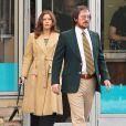 """Amy Adams et Christian Bale en couple le tournage de """"Untitled/Abscam"""" dans le Massachusetts, le 21 mars 2013."""