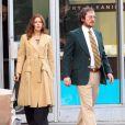 Amy Adams et Christian Bale forment un couple de malfrats chics pour le tournage du prochain long-métrage de David O. Russell près de Boston, Massachusetts, le 21 mars 2013.