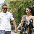 Lewis Hamilton et sa compagne Nicole Scherzinger avant le Grand-Prix de Malaisie à Kuala Lumpur le 24 mars 2013.