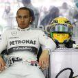 Lewis Hamilton lors du Grand-Prix de Malaisie le 24 mars 2013.
