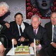 Dominique Colonna, Guy Roux, Just Fontaineet Michel Hidalgopour ses 80 ans lors d'une soirée au Palais Maillot à Paris le 25 mars 2013- Exclusif
