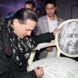 Francis Lalanne fête les 80 ans de Michel Hidalgo lors d'une soirée au Palais Maillot à Paris le 25 mars 2013- Exclusif