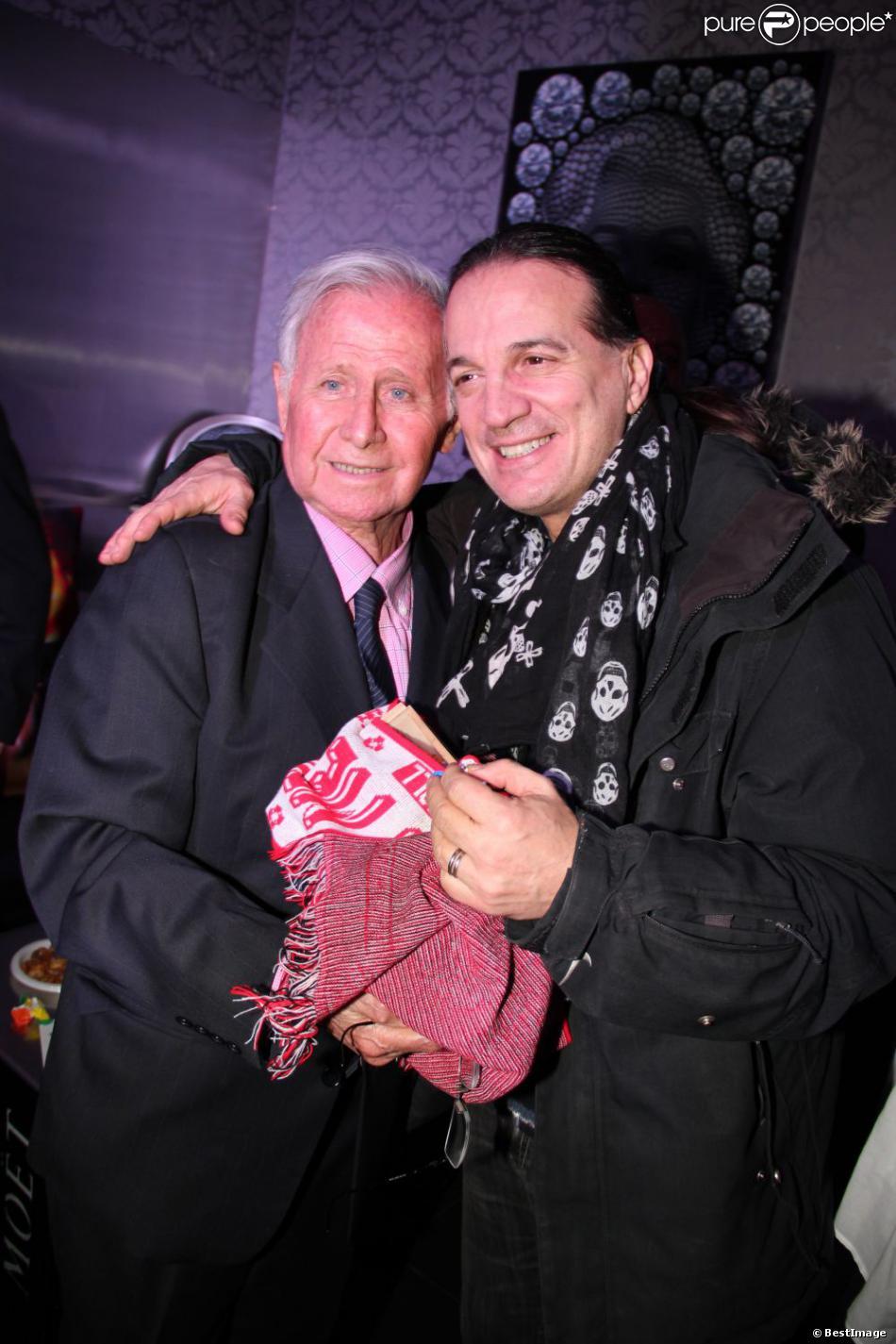 Exclusif :Francis Lalanne et Michel Hidalgo (ex-selectionneur de l'Equipe de France) qui fête ses 80 ans lors d'une soirée au Palais Maillot à Paris le 25 mars 2013.