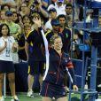 Kim Clijsters lors d'un match au National Tennis Center de New York, le 1er septembre 2012.