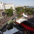 La vue du haut du Palais des Festivals à Cannes, le 18 mai 2008.