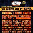 L'affiche du Hip-Hop Festival de Montréal 2013 où devait se produire Booba.