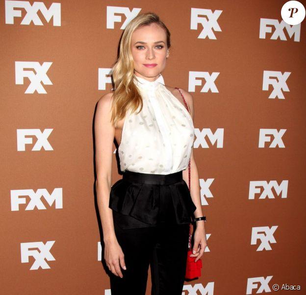 Diane Kruger lors de la soirée de la chaîne FX 'Upfront Bowling Event' à New York le 28 mars 2013