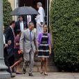 Barack Obama et sa famille quitte la St John's Episcopal Church après avoir assisté à la messe de Pâques. Washington, le 31 mars 2013.