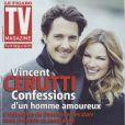 Vincent Cerutti et sa compagne Lavinia en couverture de TV Magazine