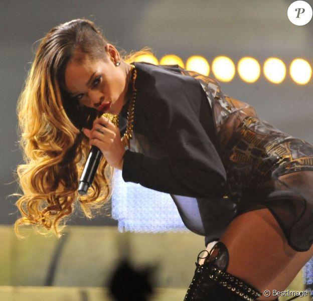 Rihanna en concert à Chicago, le 22 mars 2013.