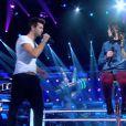 Battle entre Florent Torres et Fanny Melili dans The Voice 2 sur TF1 le samedi 6 avril 2013