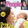 Drew barrymore en couverture du magazine  People , décembre 2012.