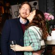 Drew Barrymore et son mari Will Kopelman assistent au lancement de Flower, ligne de produits de beauté de l'actrice, au restaurant Willow Road. New York, le 15 janvier 2013.