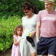 Olivier Martinez, Halle Berry enceinte et sa fille Nahla en vacances sur une plage d'Hawai le 27 mars 2013