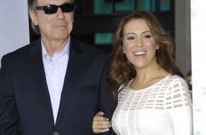 Alyssa Milano très fière de son papa devant Harrison Ford et Calista Flockhart