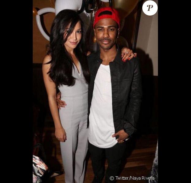 Naya Rivera et son compagnon Big Sean posent sur Twitter, le 26 mars 2013.