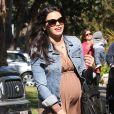 Jenna Dewan, enceinte, se rend chez le médecin à Brentwood, le 13 mars 2013.