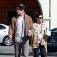 Channing Tatum et sa femme Jenna Dewan, enceinte, vont déjeuner au restaurant avec une amie à Santa Barbara, le 28 février 2013.