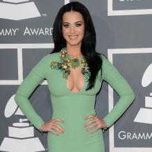Katy Perry aux Grammy Awards le 10 février 2013 à Los Angeles.