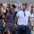 Alessandra Ambrosio et son mari Jamie Mazur au 2e jour du Festival de musique de Coachella à Indio le 13 avril 2013.