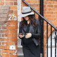 Exclu - L'actrice Jenna Dewan, enceinte à Londres, le 18 avril 2013.