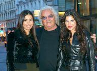 Flavio Briatore encadré de sa belle Elisabetta Gregoraci et d'une brune piquante