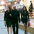 """""""Flavio Briatore, sa femme Elisabetta Gregoraci et une amie s'en vont dîner au restaurant Fabios à Vienne, le 17 avril 2013"""""""