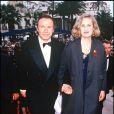 Jane Campion et l'acteur de son film La Leçon de piano, Harvey Keitel, lors du Festival de Cannes 1993