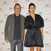 Jean Reno et sa femme Zofia face à Karolina Kurkova et ses jambes interminables