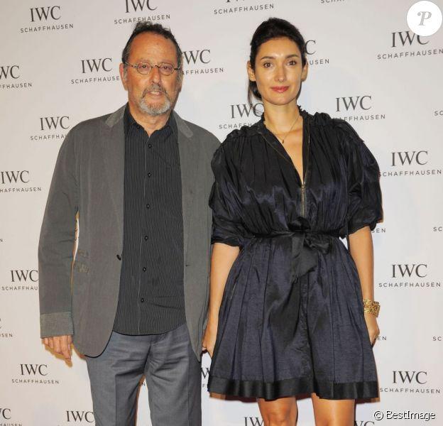 """Jean Reno et sa femme Zofia Borucka lors de la soirée """"For The Love Of Cinema"""" à New York, le 18 avril 2013 dans le cadre du festival de Tribeca"""