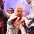 Manitas de Plata sur scène à 91 ans lors de la soirée Gipsy Fusion de Chico Castillo à l'Olympia de Paris le 31 octobre 2012