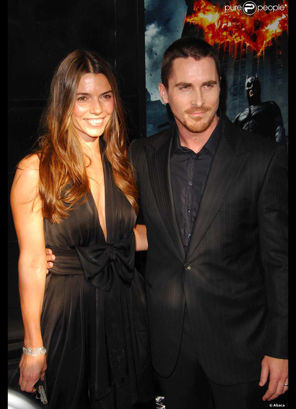 Christian Bale et sa femme Sandra Blazic à la Première mondiale de Batman The Dark Knight ...