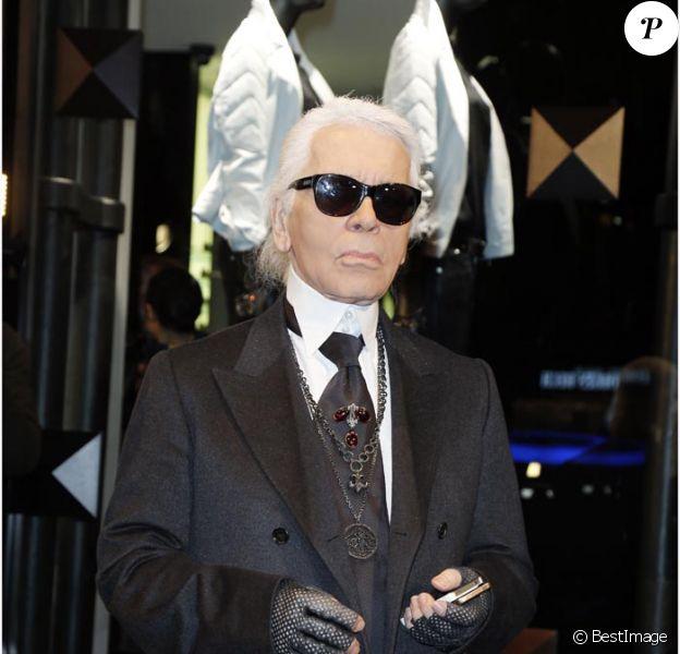 Karl Lagerfeld le 28/2/2012 à l'inauguration de sa première boutique Concept Strore