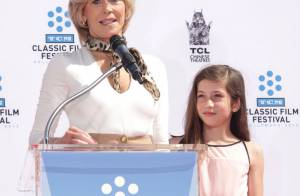 jane fonda avec sa petite fille viva et son fils troy la star est au top - Carole Bouquet Mariage 1991