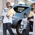 P.Diddy et ses jumelles D'Lila Star Combs and Jessie James Combs