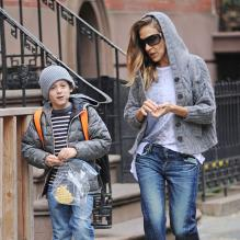 Sarah Jessica Parker et James vont à l'école à New York, le 29 avril 2013.