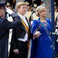 Prestation de serment du roi Willem-Alexander des Pays-Bas, avec la reine Maxima, le 30 avril 2013 à la Nouvelle Eglise (Nieuwe Kerk) d'Amsterdam.