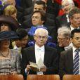 Herman van Rompuy, président du Conseil de l'Europe, à la prestation de serment du roi Willem-Alexander des Pays-Bas, le 30 avril 2013 à la Nouvelle Eglise (Nieuwe Kerk) d'Amsterdam.
