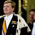 Prestation de serment du roi Willem-Alexander des Pays-Bas, le 30 avril 2013 à la Nouvelle Eglise (Nieuwe Kerk) d'Amsterdam.