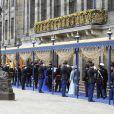 Arrivées pour la prestation de serment du roi Willem-Alexander des Pays-Bas, le 30 avril 2013 à la Nouvelle Eglise (Nieuwe Kerk) d'Amsterdam.