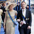 La princesse Irene et le prince Jaime de Bourbon-Parme à la prestation de serment solennelle du roi Willem-Alexander des Pays-Bas, le 30 avril 2013 à la Nouvelle Eglise (Nieuwe Kerk) d'Amsterdam.