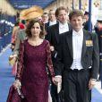Le prince Pieter Christiaan et la princesse Anita à la prestation de serment solennelle du roi Willem-Alexander des Pays-Bas, le 30 avril 2013 à la Nouvelle Eglise (Nieuwe Kerk) d'Amsterdam.