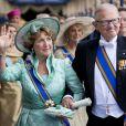 Margriet des Pays-Bas et Pieter van Vollenhoven à la prestation de serment solennelle du roi Willem-Alexander des Pays-Bas, le 30 avril 2013 à la Nouvelle Eglise (Nieuwe Kerk) d'Amsterdam.