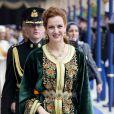 Lalla Salma du Maroc à la prestation de serment solennelle du roi Willem-Alexander des Pays-Bas, le 30 avril 2013 à la Nouvelle Eglise (Nieuwe Kerk) d'Amsterdam.