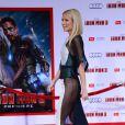 Gwyneth Paltrow et sa robe transparente lors de l'avant-première du film Iron Man 3 à Los Angeles le 24 avril 2013 à Los Angeles