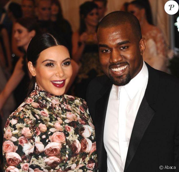 "Kim Kardashian et Kanye West assistent au gala ""Punk: Chaos to Couture"" du Costume Institute au Metropolitan Museum of Art. New York, le 6 mai 2013."