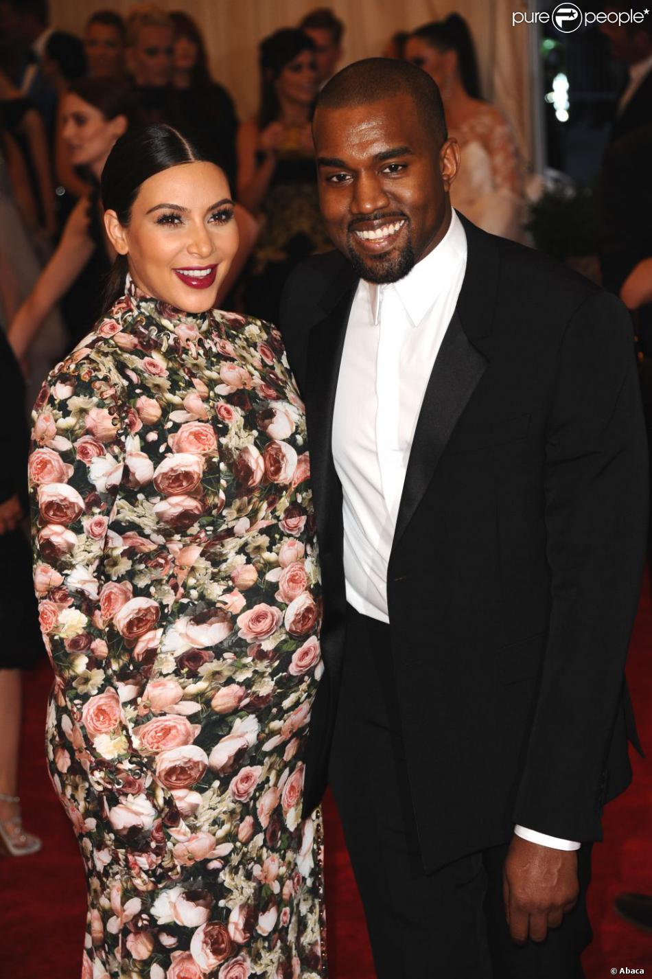 "Kim Kardashian et Kanye West assistent au gala ""Punk: Chaos to Couture"" du Costume Institute au Metropolitan Museum of Art. New York, le 6 mai 2013."